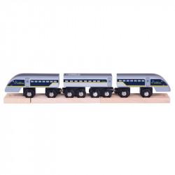 Bigjigs Toys Pociąg z Wagonami EUROSTAR BJT476