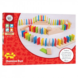 Bigjigs Toys Gra Układanka Drewniane DOMINO BJ558