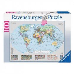 RAVENSBURGER Puzzle 1000 el. MAPA ŚWIATA 156528