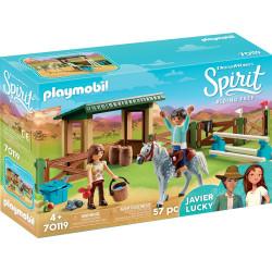 PLAYMOBIL Spirit 70119 Wybieg z Lucky i Javier