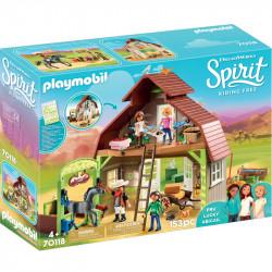 PLAYMOBIL Spirit 70118 Boks Stajenny z Lucky, Pru i Abigail