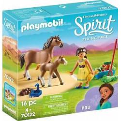 PLAYMOBIL Spirit 70122 Pru z Koniem i Źrebakiem