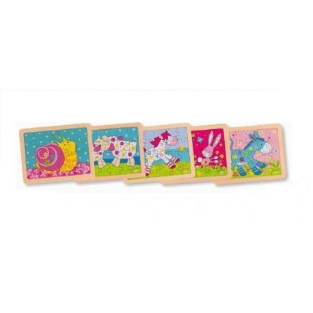 Goki - 57506 - Puzzle Drewniane 24 - Susiblle - Zwierzątka