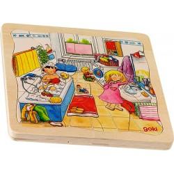 Goki - 57566 - Puzzle Drewniane 46 - Mój Dzień