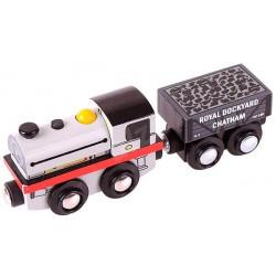 Bigjigs Toys Drewniana Lokomotywa ROLLING STOCK BJT460