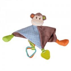 Bigjigs Toys - BB525 - Kocyk Przytulanka - Małpka