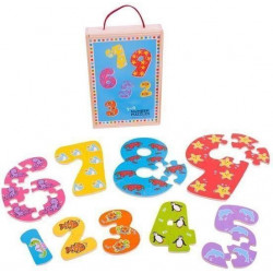 BigJigs Toys DREWNIANA UKŁADANKA Puzzle CYFERKI BJ507