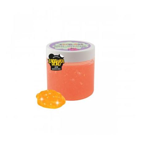 TUBAN Slime Glutek Pomarańczowy Neonowy z Brokatem 0438