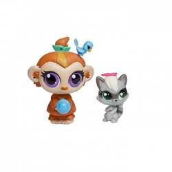 Hasbro - A8424 - A7313 - Littlest Pet Shop - Zestaw z Akcesoriami - Sneakers Stymie i Mushroom Lee