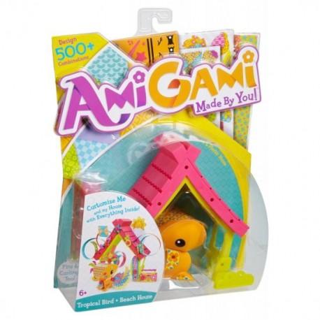 Mattel - BHN44 - BLV48 - AmiGami - Zwierzątka do Dekoracji - Ptaszek i Domek