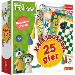 TREFL Kalejdoskop 25 Gier RODZINA TREFLIKÓW 01678