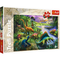 TREFL Puzzle 260 Elementów DINOZAURY 13214
