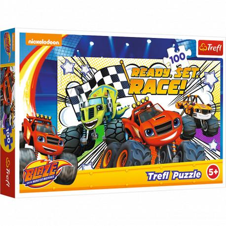 TREFL Puzzle 100 Elementów BLAZE I MEGAMASZYNY Gotowi na Wyścig 16301