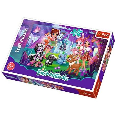TREFL Puzzle 100 Elementów ENCHANTIMALS 16348