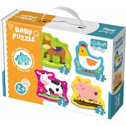 TREFL BABY Puzzle ZWIERZĘTA NA WSI 36070
