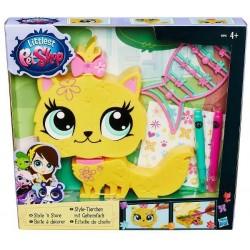 Hasbro - B0033 - B0096 - Littlest Pet Shop - Zwierzak Do Stylizacji - Żółty Kotek