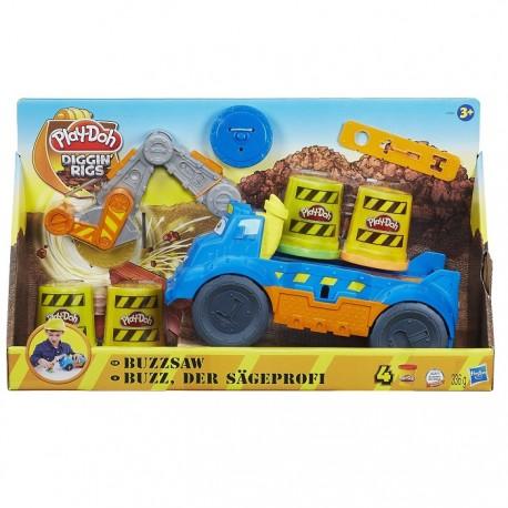 Ciastolina Play-Doh - A7394 - Wesołe Pojazdy Budowlane - Pracowita Piła Buzz