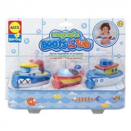 Alex Toys - 823W - Zabawki do Kąpieli - Magnetyczne Łódki