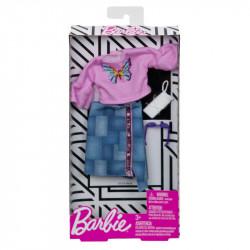 MATTEL Akcesoria dla Lalki Barbie Zestaw Ubranek BLUZA SPORTOWA Z MOTYLEM FXJ02