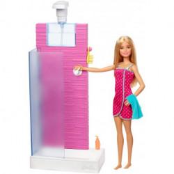 MATTEL Lalka Barbie Mebelki Domowe PRYSZNIC Z AKCESORIAMI FXG51