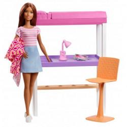 MATTEL Lalka Barbie Mebelki Domowe BIURKO Z AKCESORIAMI FXG52