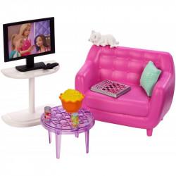 MATTEL Lalka Barbie Akcesoria do Domu MEBELKI DO SALONU FXG36
