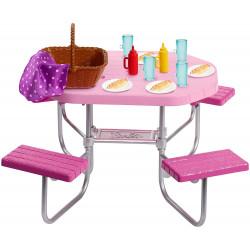 MATTEL Lalka Barbie Akcesoria do Domu STOLIK PIKNIKOWY FXG40