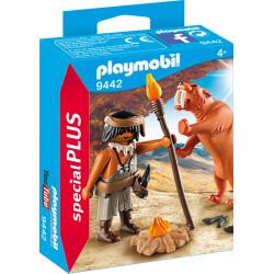 PLAYMOBIL 9442 Neandertalczyk z Tygrysem Szablozębnym