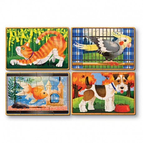 Melissa & Doug - 13790 - Układanka - Puzzle Drewniane w Pudełku - Pupile