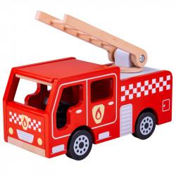 BIGJIGS Drewniany Pojazd STRAŻ POŻARNA JT131