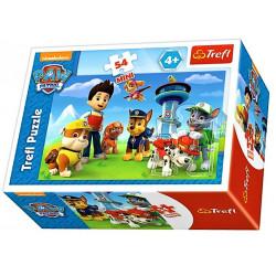 TREFL Puzzle MINI 54 Elementy MINI UKŁADANKA Psi Patrol Marshall i Przyjaciele Podwodna Przygoda 19603