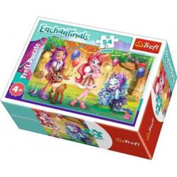 TREFL Puzzle MINI 54 Elementy MINI UKŁADANKA Enchantimals Przyjaciele na Urodzinach 19620