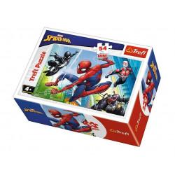 TREFL Puzzle MINI 54 Elementy MINI UKŁADANKA Spider-Man Walka ze Złem Marvel 19606