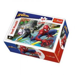 TREFL Puzzle MINI 54 Elementy MINI UKŁADANKA Spider-Man Walka Bitwa ze Złem 19605