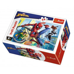 TREFL Puzzle MINI 54 Elementy MINI UKŁADANKA Spider-Man kontra Zło 19607
