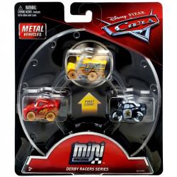 Mattel CARS AUTKA Zestaw 3 Samochodzików Zygzak Mcqueen Radiowóz Policyjny ABP i Miss Fritter GBC70