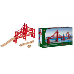 BRIO Kolejka Drewniana Most Wiszący 33683