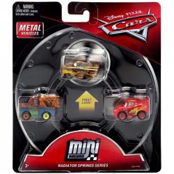 Mattel CARS AUTKA Zestaw 3 Samochodzików Zygzak McQueen Złomek i Złoty Ramone GBN74