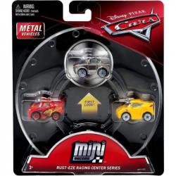 Mattel CARS AUTKA Zestaw 3 Samochodzików Zygzak McQueen Cruz Ramirez i Sterling GBC72