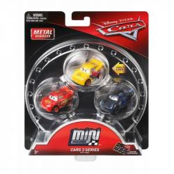 Mattel CARS AUTKA Zestaw 3 Samochodzików Zygzak McQueen Cruz Ramirez i Jackson Storm FPT71