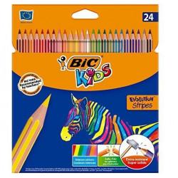 BIC Kredki Eco Evolution Stripes 24 kolorów 99133