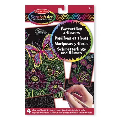 Melissa & Doug - 15956 - Zdrapki Holograficzne - Motyki i Kwiaty