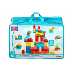 Fisher-Price Mega Bloks 150 klocków Niebieska CNM43