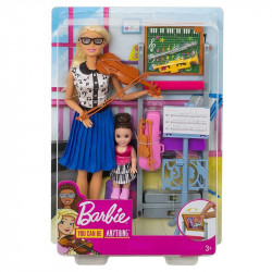 Mattel Lalka Barbie You Can Be Anything Nauczycielka Muzyki FXP18