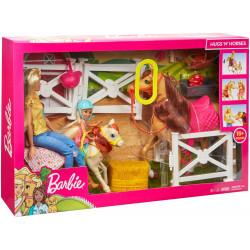 MATTEL Lalka Barbie Zestaw Stadnina Koni FXH15