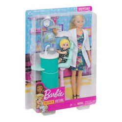 Mattel Lalka Barbie You Can Be Anything Dentystka FXP16