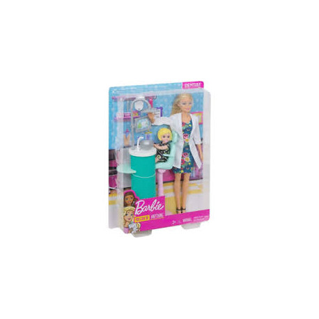 Mattel Lalka Barbie You Can Be Anything Dentystka FXP16