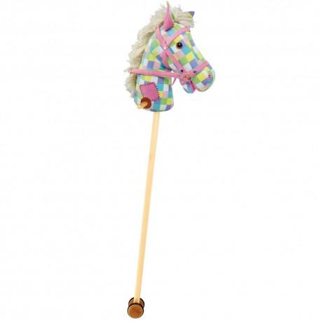 Bigjigs Toys - 282 - Koń na Kiju - Kolorowa Kratka