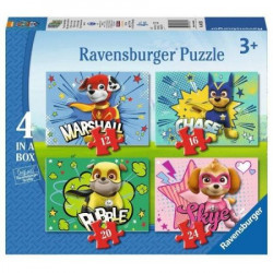 RAVENSBURGER Układanka Puzzle 4w1 PSI PATROL 069231