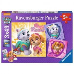 RAVENSBURGER Układanka Puzzle 3w1 PSI PATROL Skye i Everest 080083